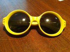 yellow Italian sunglasses
