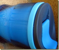 Blue travel mug
