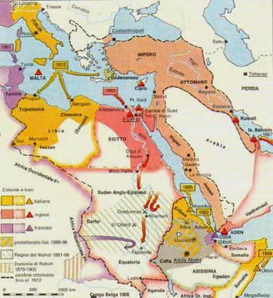 L'Impero coloniale italiano, 1914 da Atlante Storico Garzanti
