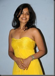 bindu-madhavi -in-yellow  dress
