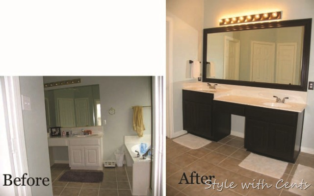master bathroom oil rubbed bronze renovation before after1