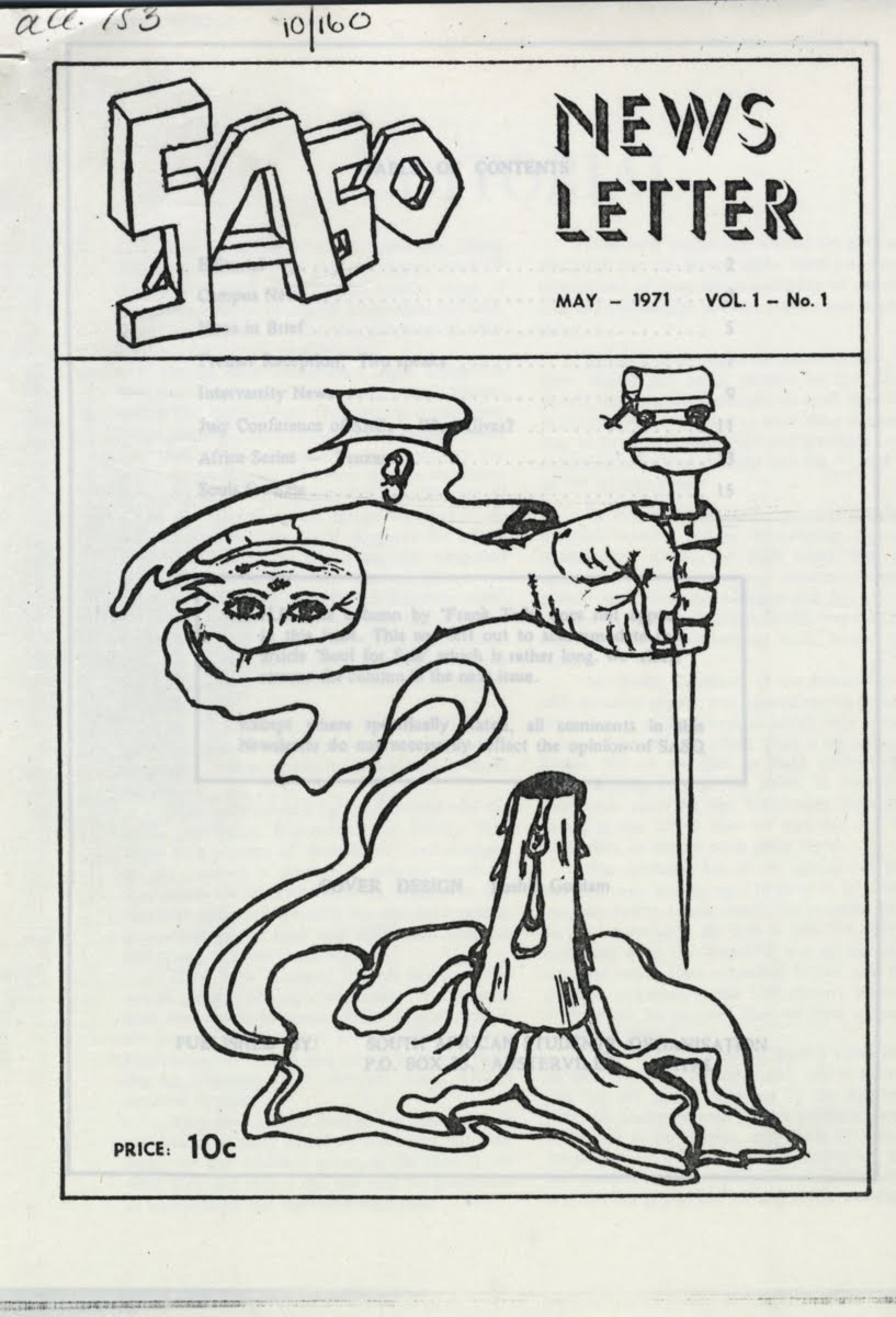 Cover of a 1971 SASO Newsletter