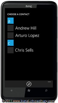 WP7.1 Demo - Address Chooser Application