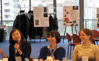 RCLA researchers Celina Su and Jennifer Dodge with Margo Hittleman, co-founder and the coordinator of the Natural Leaders Initiative, at RCLA's Social Change and Public Leadership Symposium. (left, right and center, respectively)