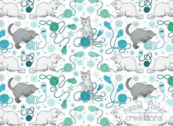 2014 December 06 Kittens with Mittens line drawing 2