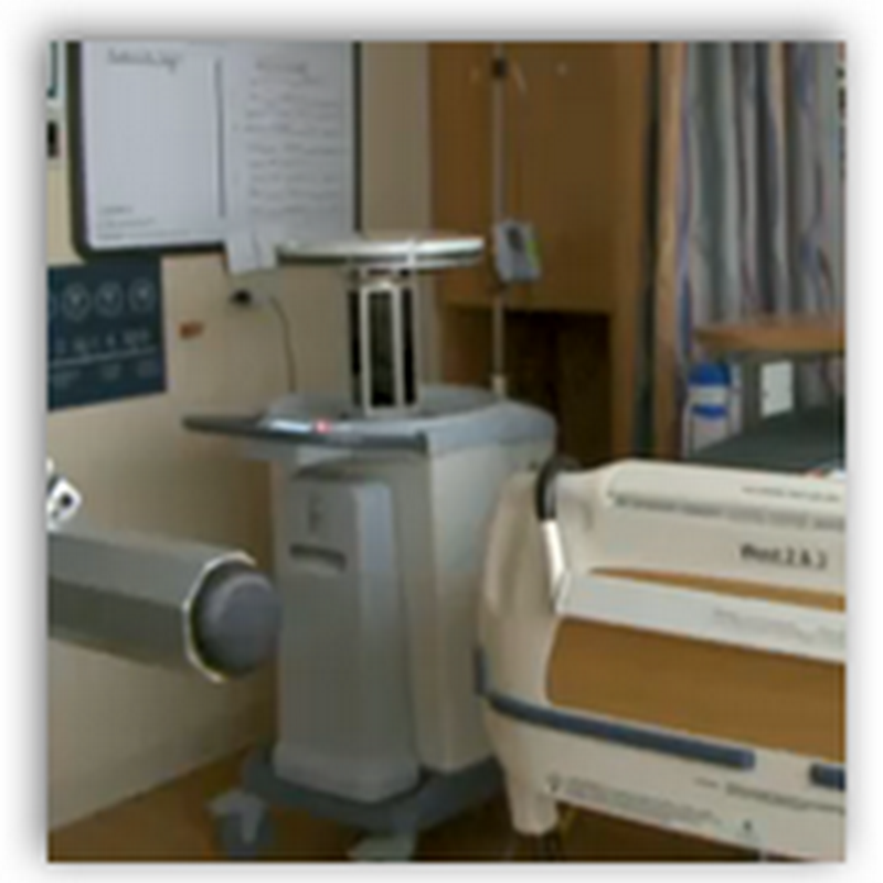 Hospital Robot Blasts Bacteria With One UV Swoop to Disinfect Rooms And All the Contents