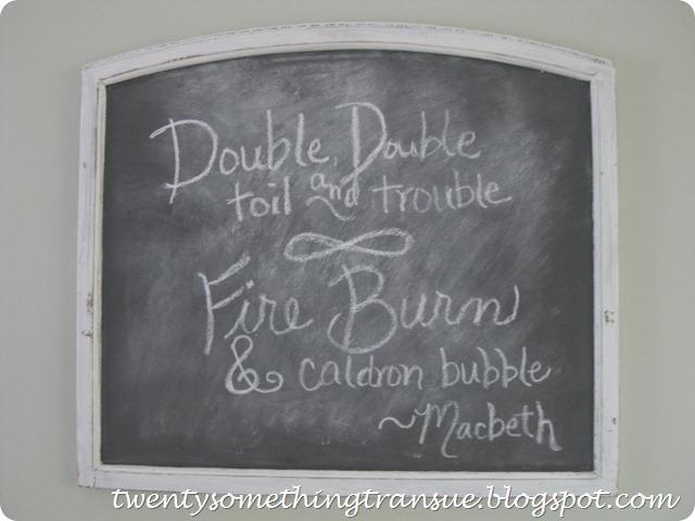 Halloween Chalkboard Message