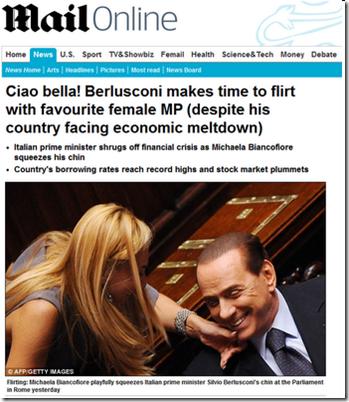 Mail Online critica Berlusconi