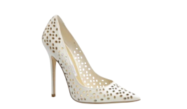 We loved Jimmy Choo's take on a bridal trend we've been spotting all over runways - laser cut.