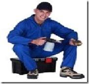 plumber on toolbox