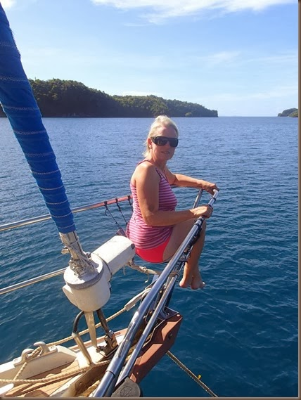 marta syren riding the bow sailing around the world