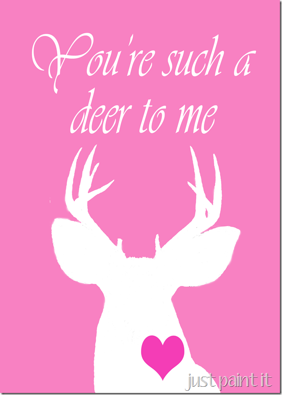 Deer head printable