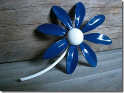 blue daisy enamel jewelry
