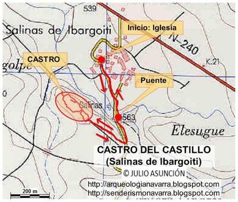 Mapa castro de Salinas de Ibargoiti