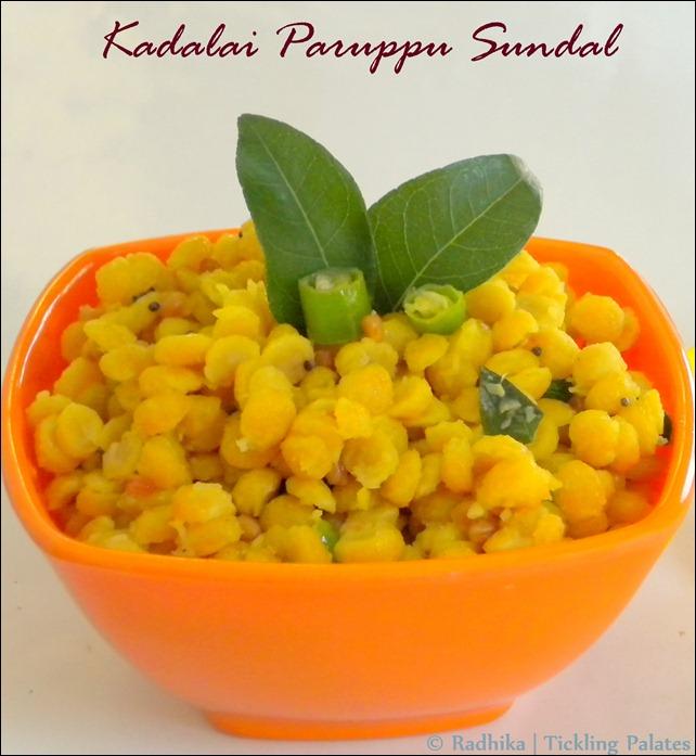Kadalai Paruppu Sundal