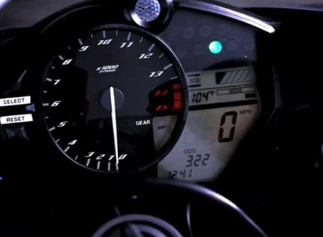YZF-R1 2012 new looks panel instrument