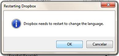 Reiniciando Dropbox