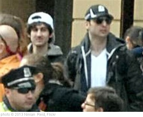 'Startling photo of the Boston Marathon bombers' photo (c) 2013, Ninian  Reid - license: http://creativecommons.org/licenses/by/2.0/