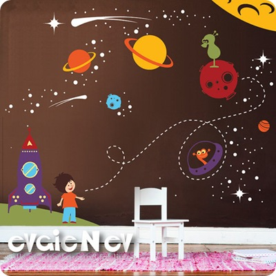 outer space wall art vinyl