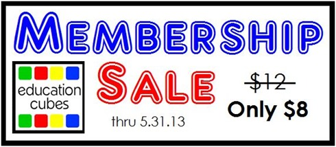 Education Cubes Membership Sale ONLY $8
