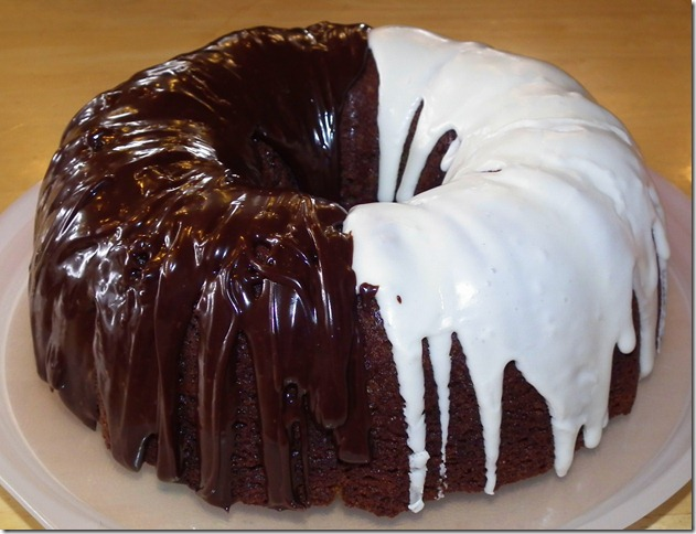 Chocolate Banana Marble Bundt Cake 10-26-11