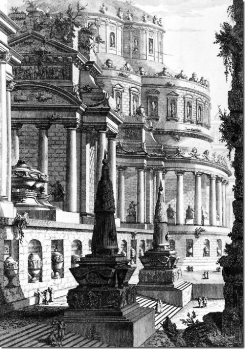 giovanni battista piranesi, imperial mausoleum, 1750