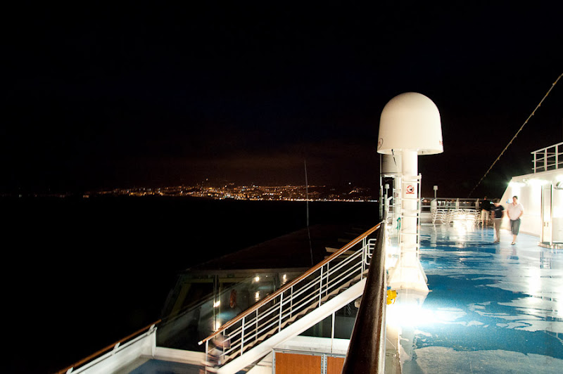 Третий день. Casablanca. Morocco. Круиз. Costa Concordia. Прощальный взгляд на порт.