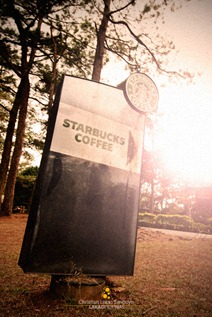 Starbuck Coffee Sign Leads the Way at Camp John Hay