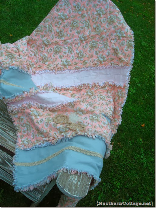 {Northern Cottage} pink rag quilt