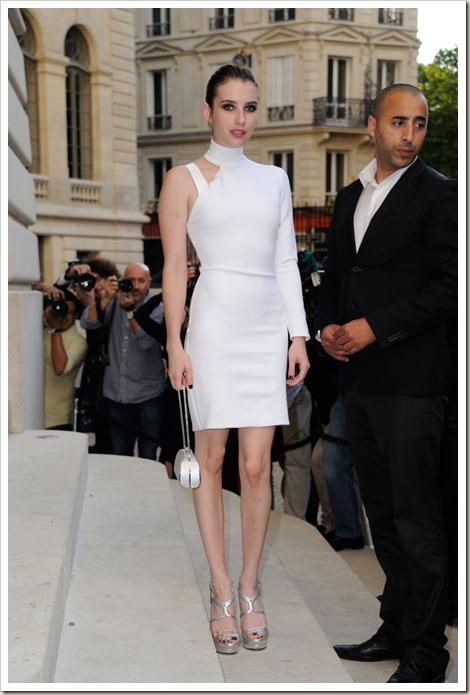 Emma Roberts in Versace