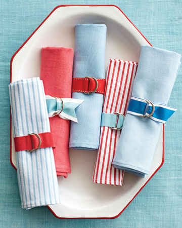 Fashion a set of red, white, and blue napkin rings in no time.  <http://www.marthastewart.com/photogallery/patriotic-crafts#slide_5>