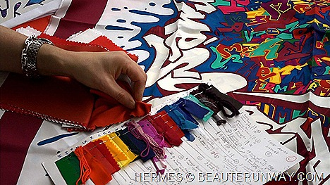 Hermes Scarf Gratti Hearts & Crafts The People