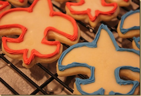 Eagle Scout Fleur De Lis sugar cookies
