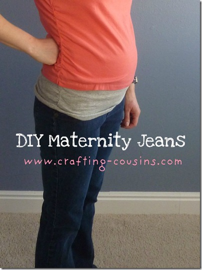 DIY Maternity Jeans 2