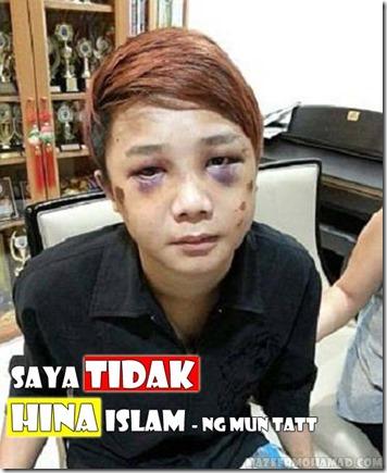 NG MUN TATT  SAYA TIDAK HINA ISLAM