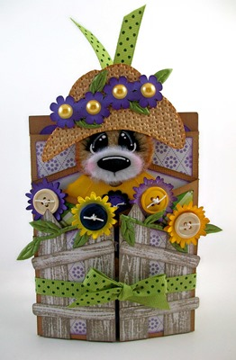 Garden Bear Retirement Gatefold Pocket Card
