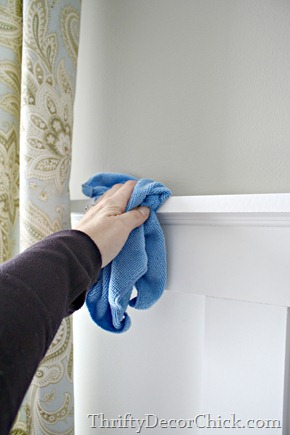 cleaning wood trim