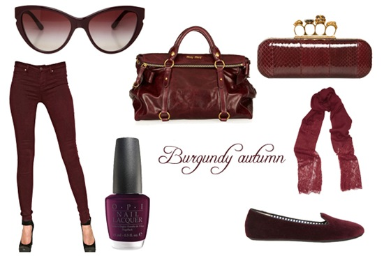 burgundy fashion