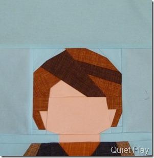 Paper pieced LEGO Anakin
