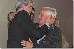 Gustavo Caruso - Secretario de Desarrollo Social en la entrega de reconocimientos a adultos mayores destacados