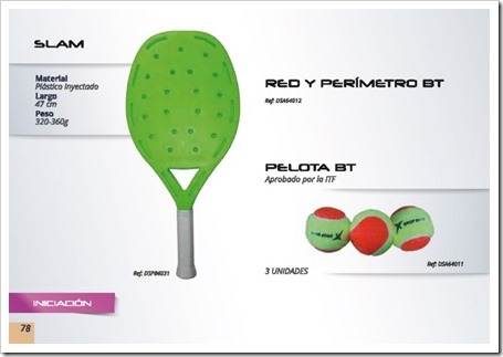 DS Beach Tennis / Tenis Playa 2015 / modelo slam plastico y pelota bt