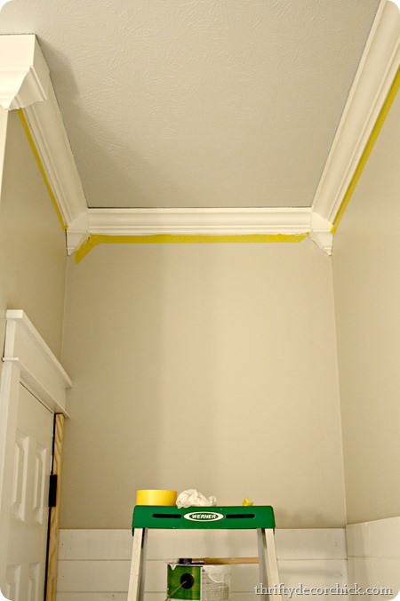 Cheater crown molding