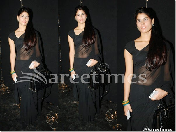 Black_Plain_Georgette_Saree