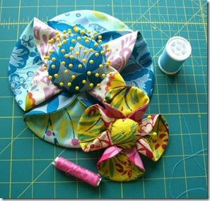 Tea Cup Flower pincushion