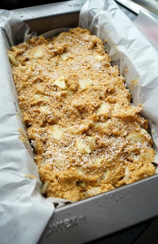 Apple & Coconut Loaf Raw