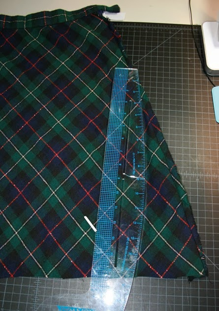 wool plaid skirt refashion sew a straight line-2-2