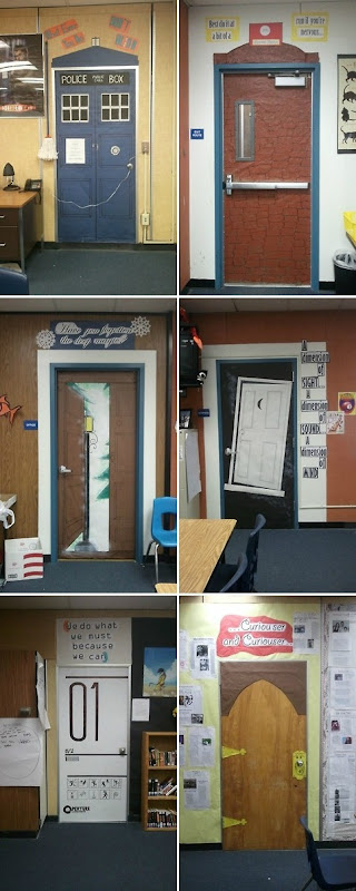 Geeky Classroom Doors via Doctor Who Overdose