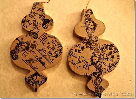 French Stamped Ornaments