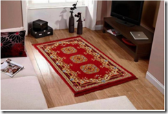 Buy Fablooms Maroon & Brown Contemporary Rug at Rs. 333 only