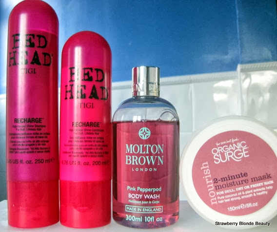 Tigi-Bedhead-Recharge-Shampoo Conditioner,MoltonBrown-PinkPeppercorn,OrganicSurge-2min-Hair-Mask